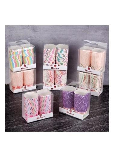 Tohana Tohana THN75168 24'lü Renkli Kağıt Cupcake Kalıbı Renkli